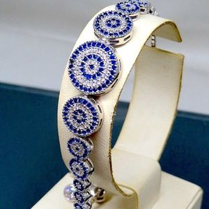 Sapphire and Sterling Silver Bracelet-Gorgeous!